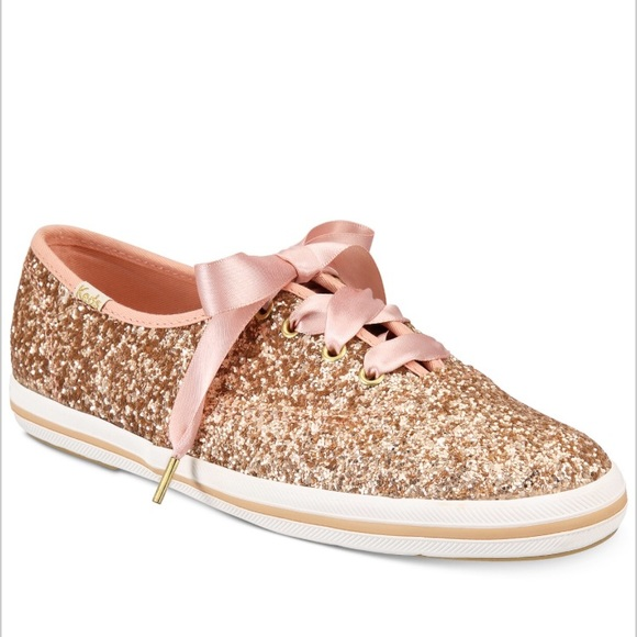 3309a15a5286 kate spade Shoes - Kate Spade   Keds Glitter Sneakers - Rose Gold
